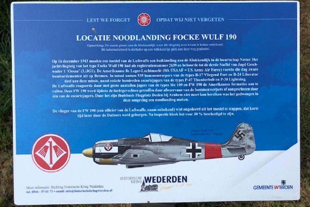 Crashlocatie Focke Wulf 190 Klokkendijk Wierden