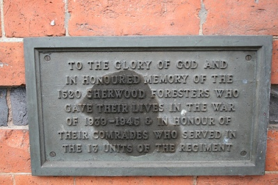 Plaque Sherwood Foresters