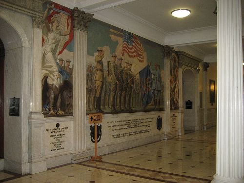 This Mural Inside The Massachusetts State House Commemorates The Residents  Of Massachusetts Who Were Killed In World War I.