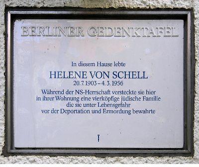 Plaquette Helene von Schell