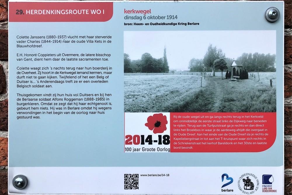 Herdenkingsroute 100 jaar Groote Oorlog - Informatiebord 29