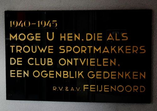 Plaque Sports Club Feijenoord