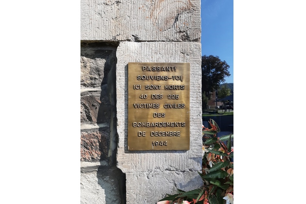 Plaquette Bombardement of Malmedy
