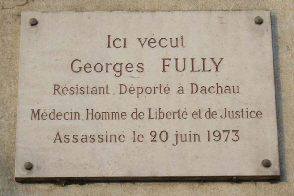 Plaquette Georges Fully