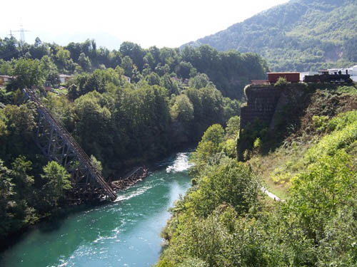 Blown Up Bridge & Partisan Train Jablanica