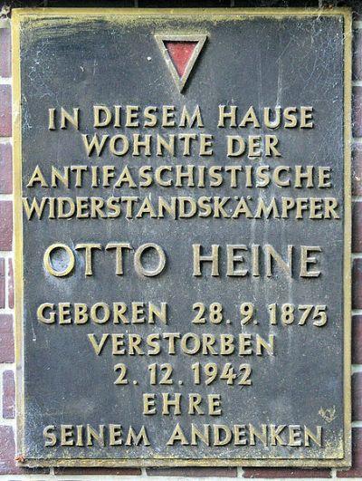 Plaque Otto Heine