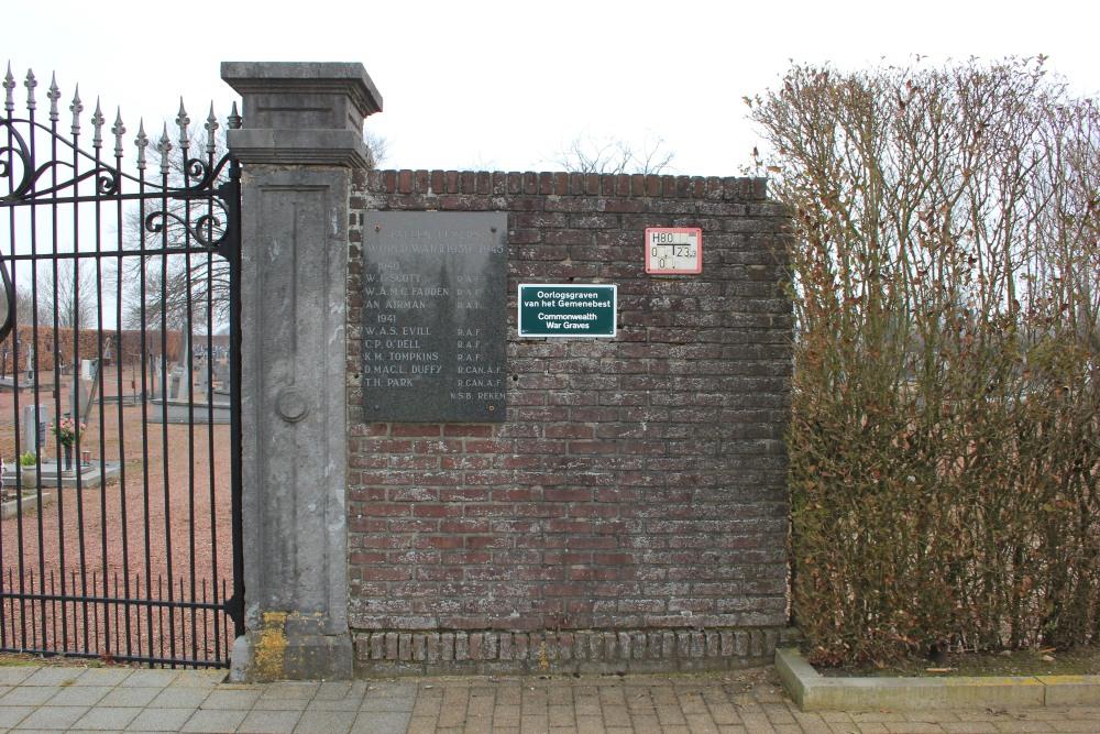 Plaque Fallen Flyers Cemetery Rekem