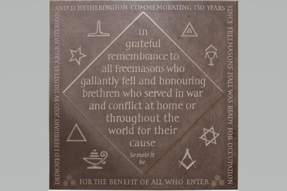 Vrijmetselaars Gedenksteen Belfast