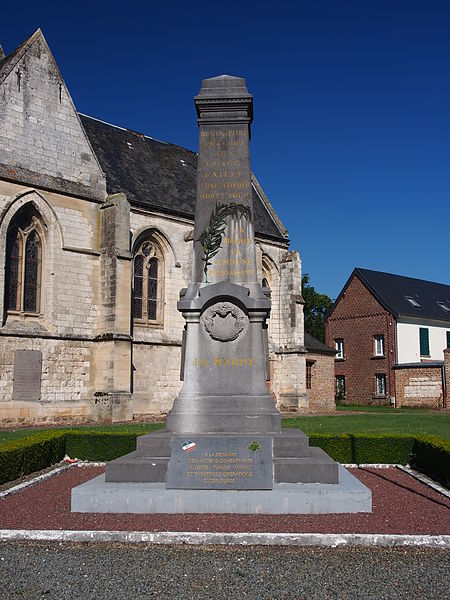 Oorlogsmonument Ailly-le-Haut-Clocher