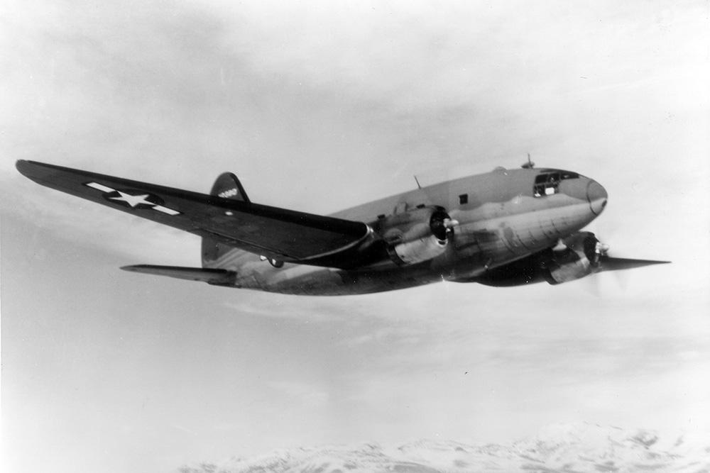 Crashlocatie Curtiss C-46A-40-CU Commando 42-107365