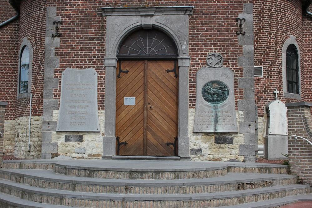 Gedenkplaten Kerk Corbais