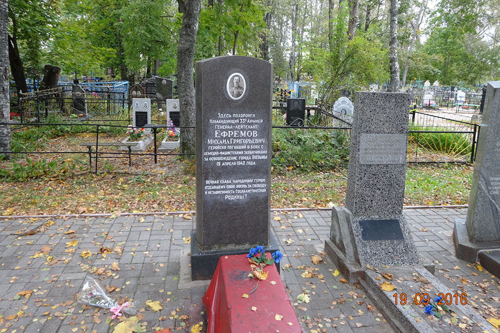 Grave General Mikhail Efremov