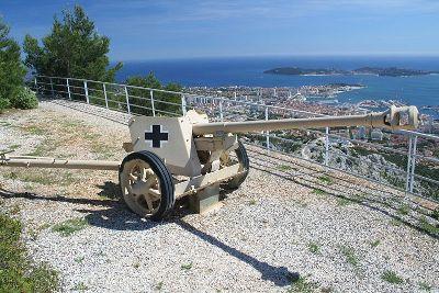 Duitse 75mm PAK 40 Mont Faron