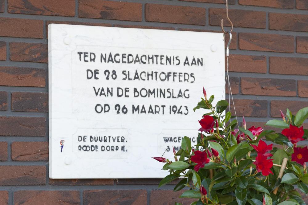 Plaquette Bombardement Wageningen