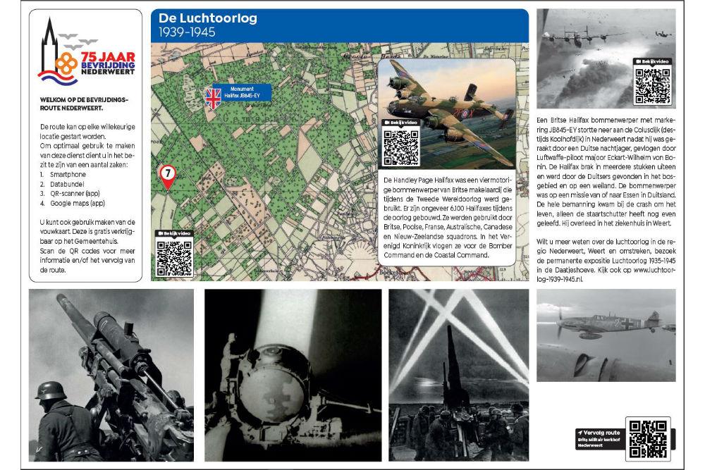 Bevrijdingsroute Locatie 7 - De Luchtoorlog 1940-45