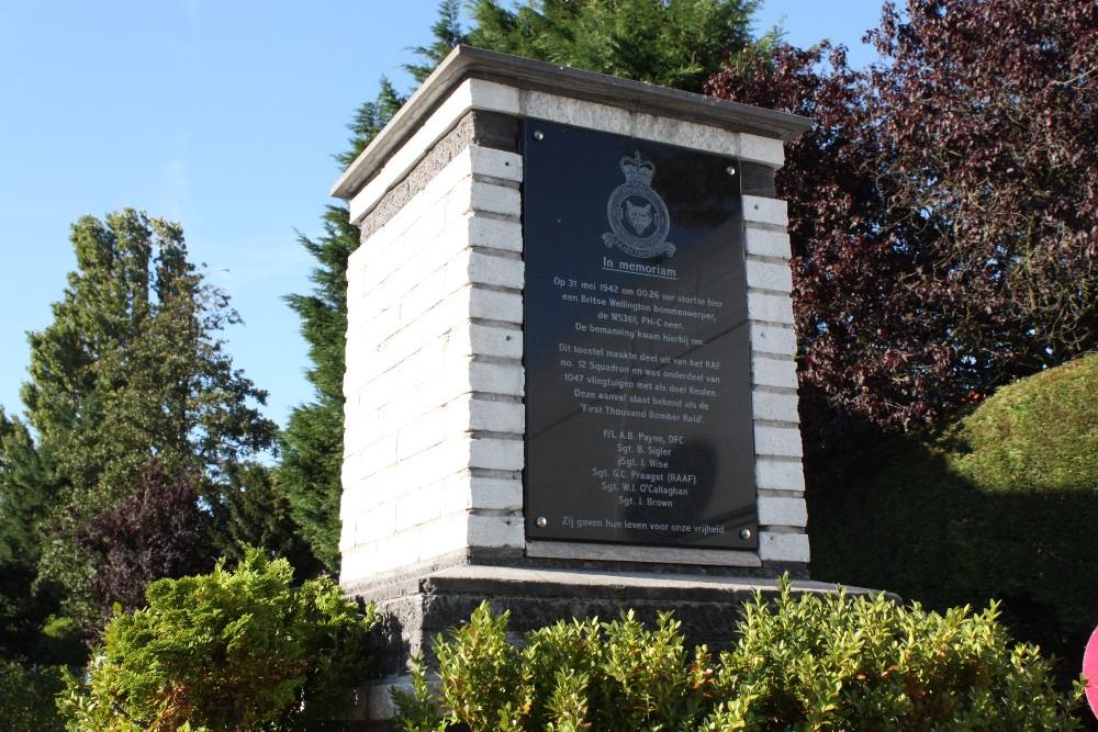 Monument Wellington Bommenwerper W5361 PC-H