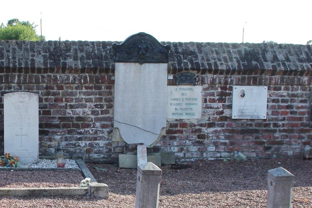 Commemorative Plates Cemetery War Voroux-Goreux