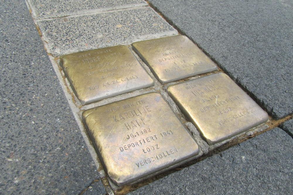 Stolpersteine Hohenzollernring 47