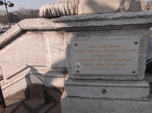 Plaque Killed Resistance Fighters Maquis de Lorris