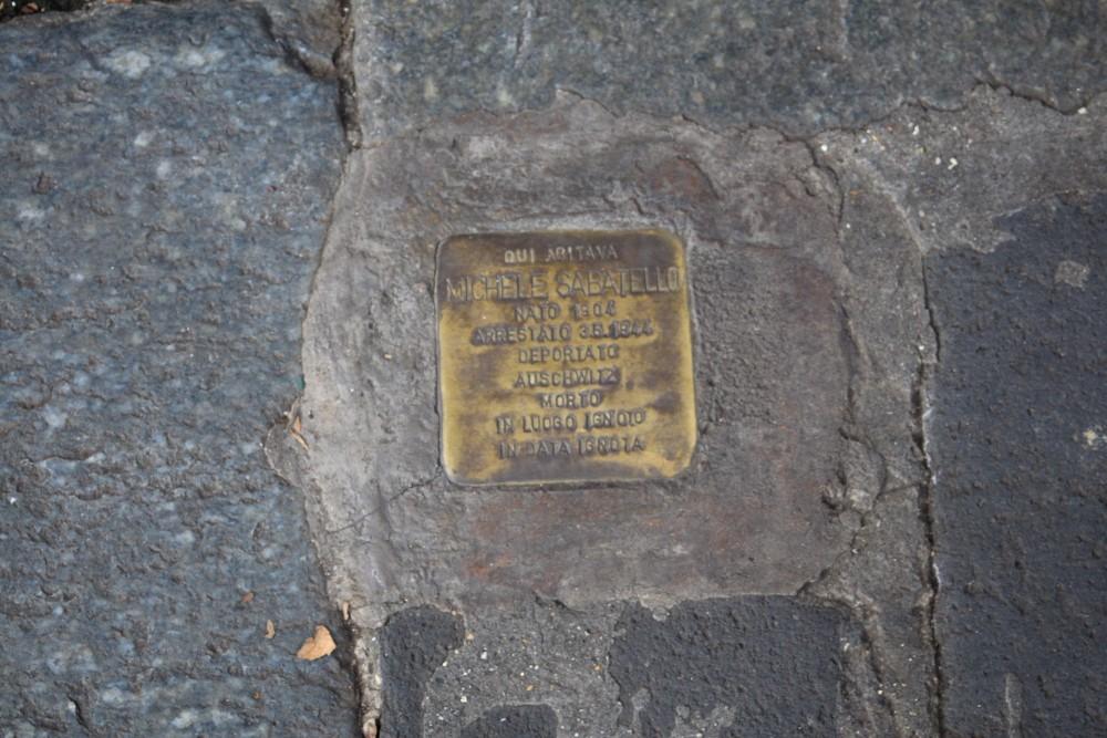 Stolpersteine, Lungotevere Cenci 4 Rome