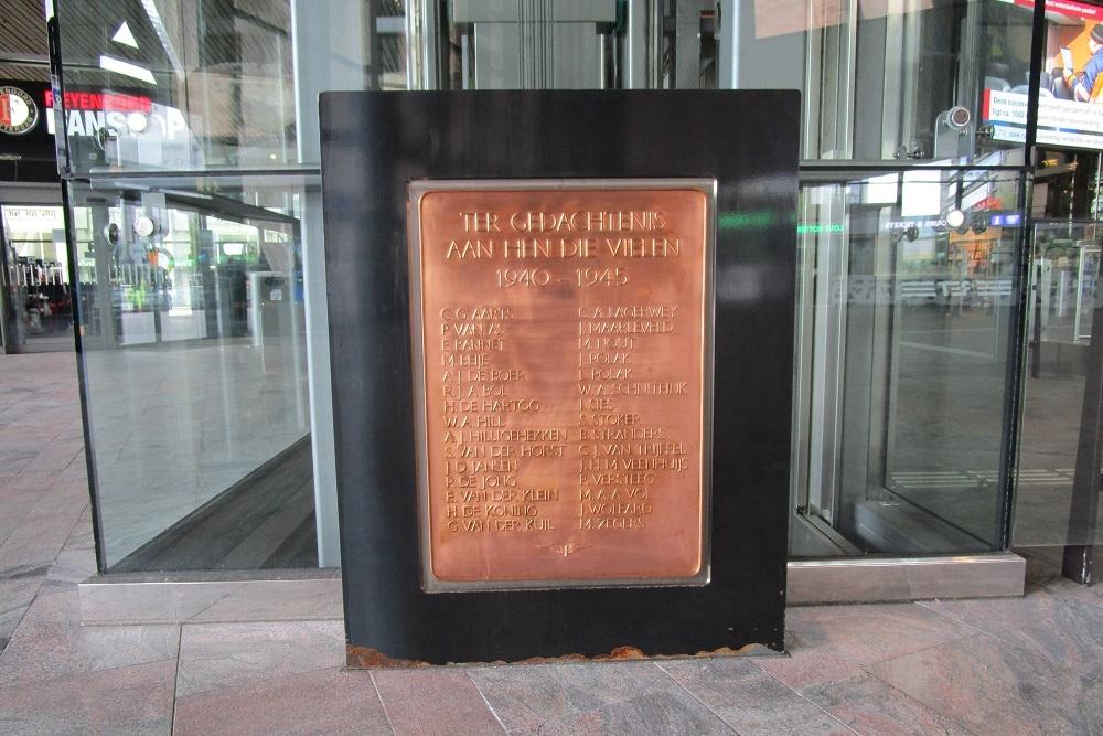 Wat doet die geheimzinnige bronzen plaquette in Rotterdam Centraal?