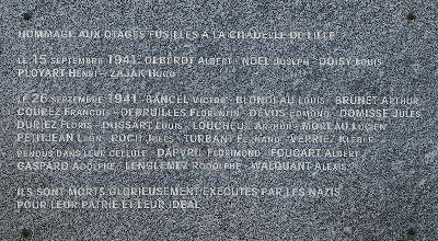 Plaque Shot People Lille Citadel