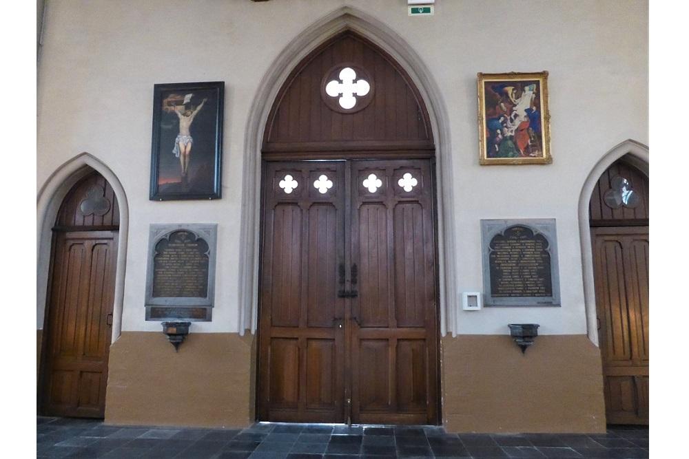 Gedenkplaten St.Gorikskerk Haaltert
