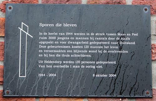 Memorial 'Tracks that were' Heldendorp