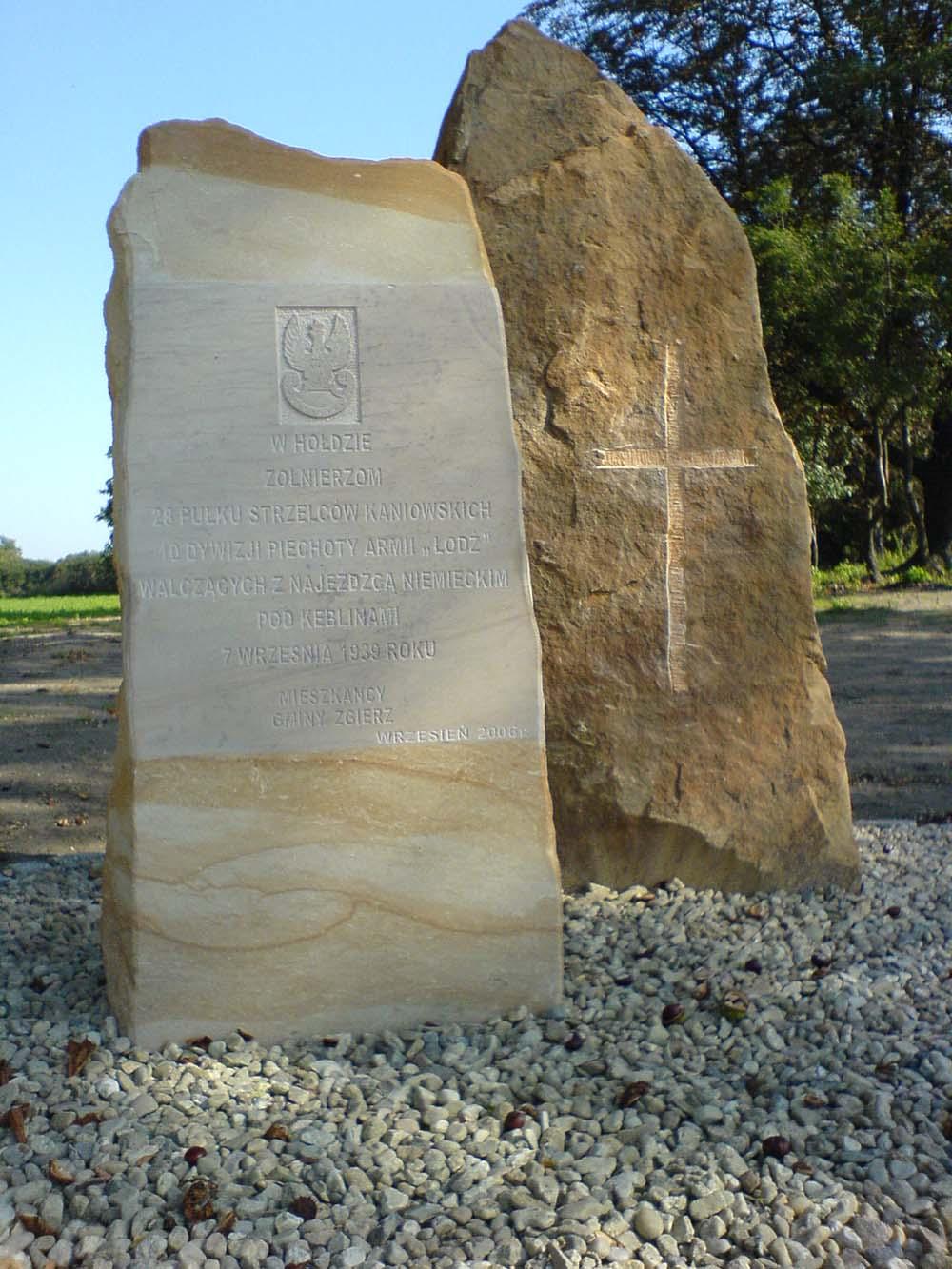 Memorial Battle of Kebliny 1939