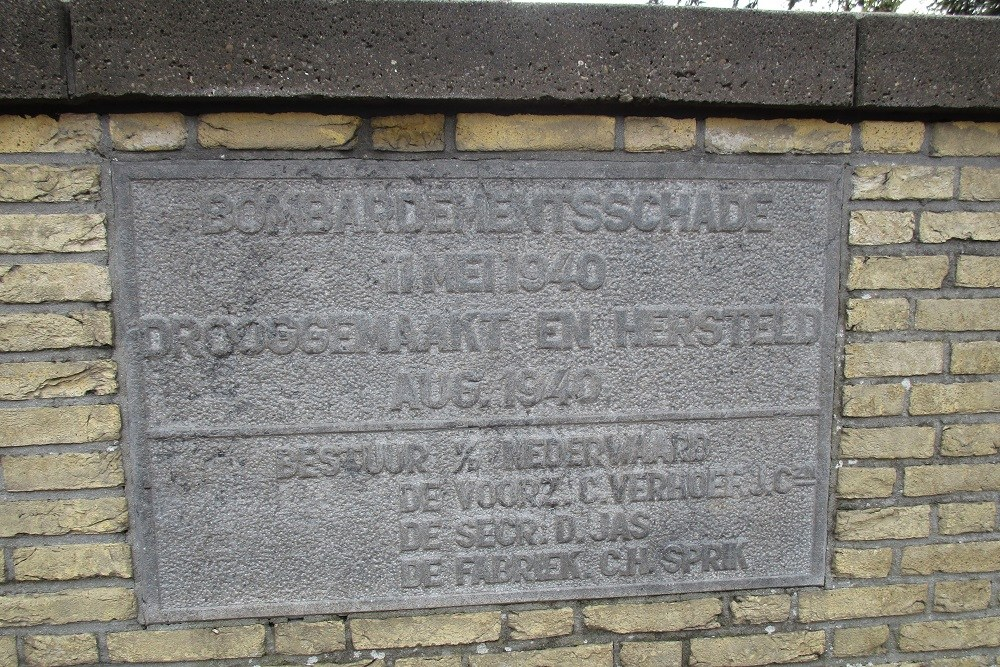 Plaque Historical Lock Alblasserdam
