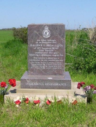 Memorial Crash Halifax BB216
