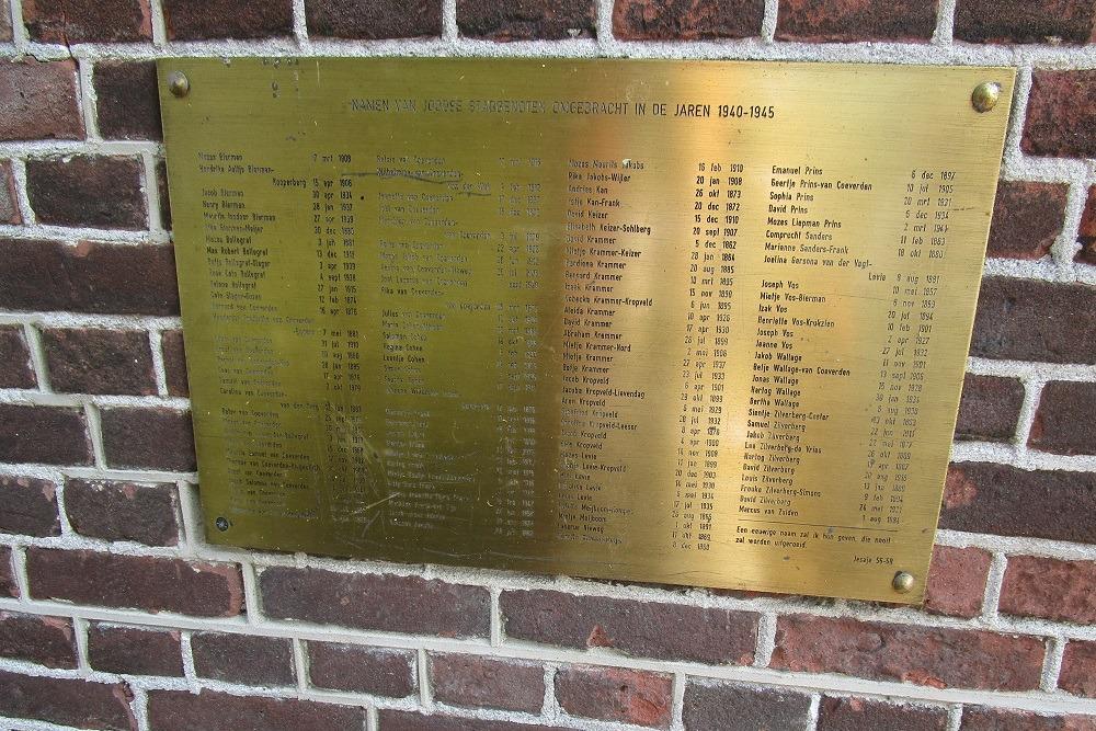 Plaquette Joodse Slachtoffers Synagoge Coevorden