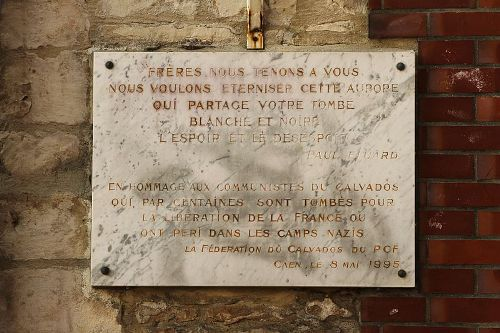 Plaquette Communisten uit Calvados