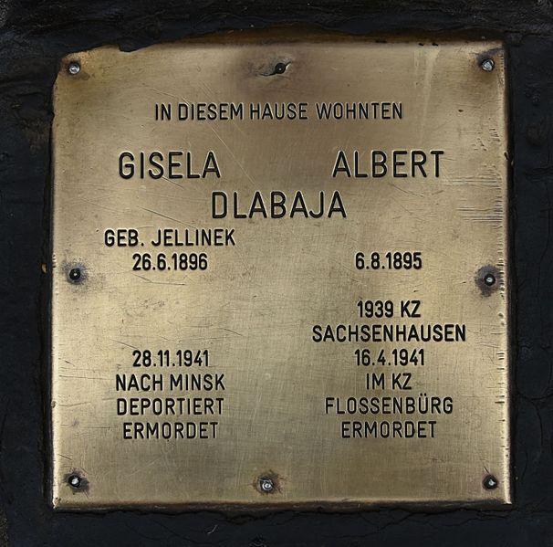 Gedenksteen Troststraße 125