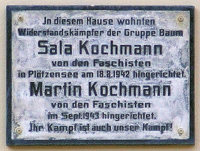 Plaque Sala and Martin Kochmann