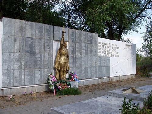 Mass Grave Soviet Soldiers Mordvynivka