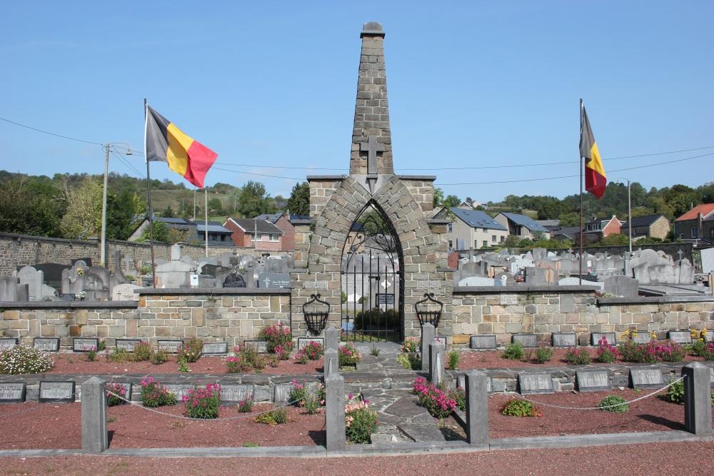 Belgische Oorlogsgraven Sougné-Remouchamps