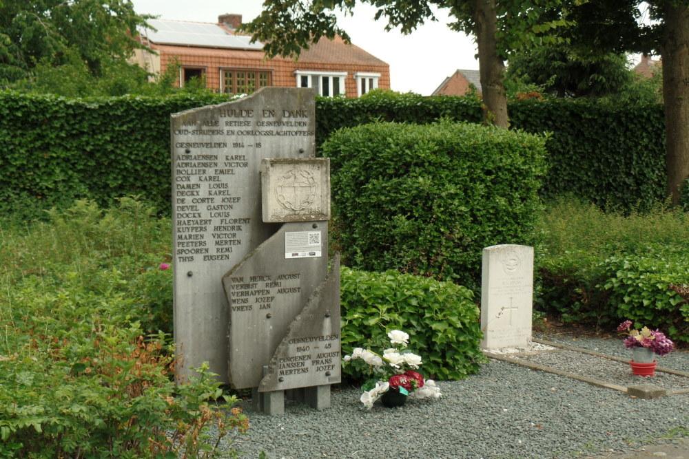 Oorlogsmonument Begraafplaats Retie
