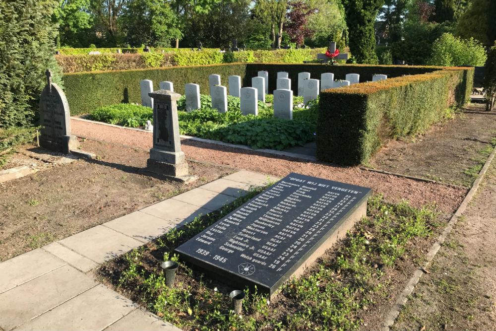 Memorial Killed Air Crew Old Municipal Cemetery Haaksbergen