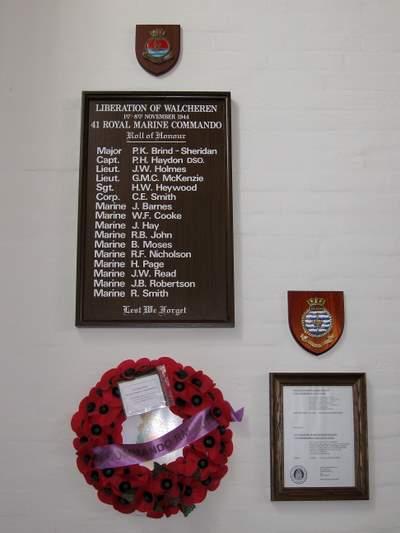 Roll of Honour 41 Royal Marine Commando Westkapelle