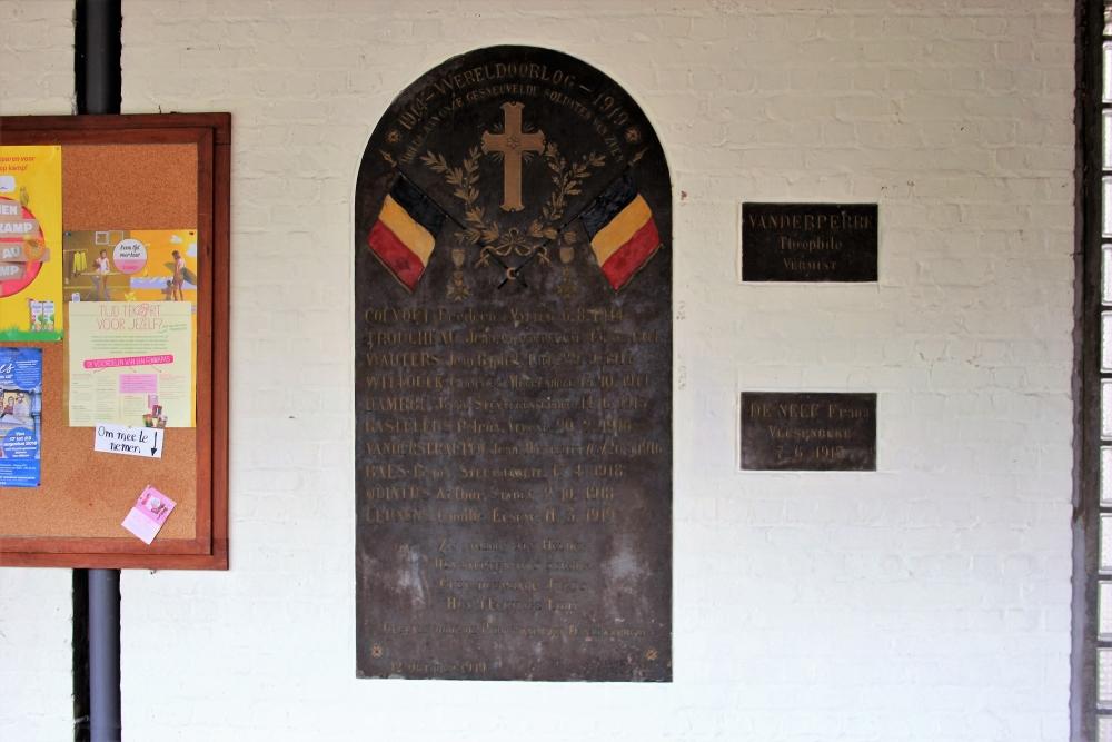 Commemorative Plate First World War Zuun