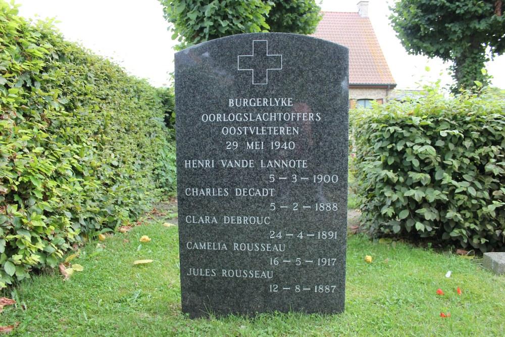 Gedenksteen Burgerslachtoffers Oostvleteren