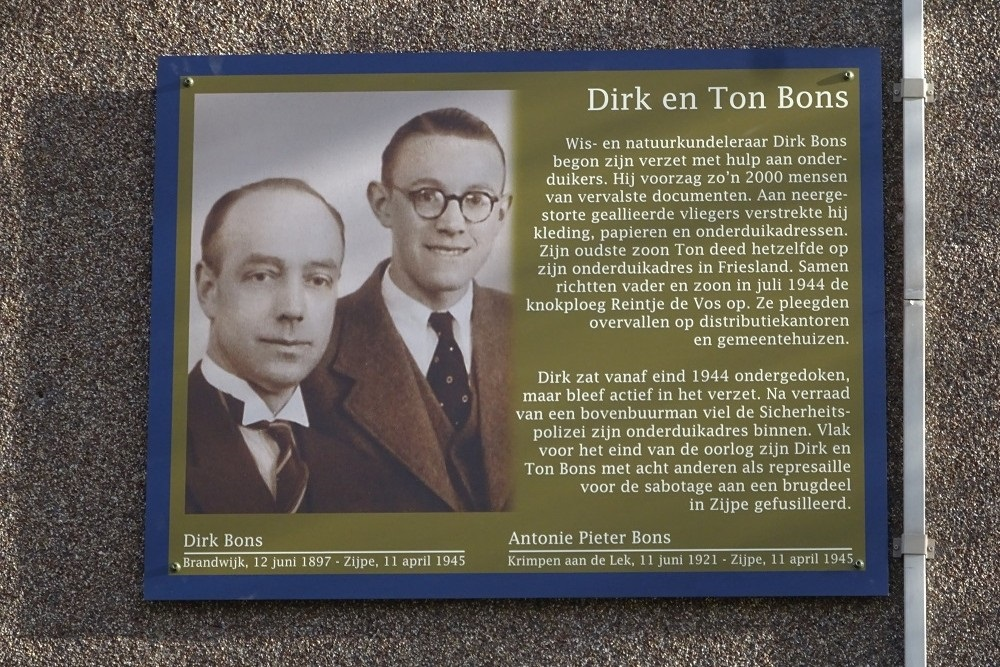 Herdenkingsborden Slotermeer Dirk Bonsstraat