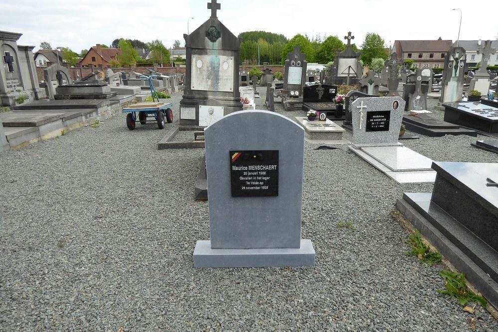 Belgian War Grave Burst