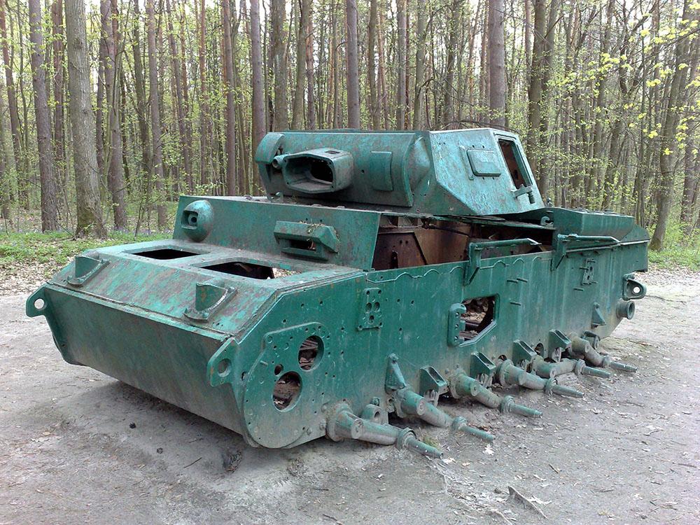 Wrak Panzerkampfwagen III Ausf. J