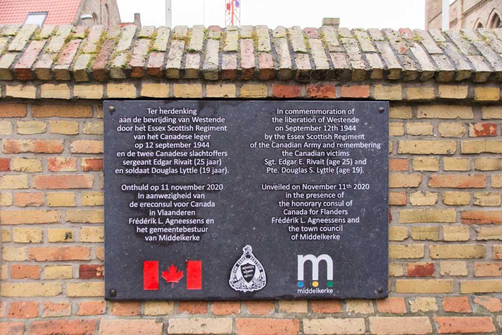 Gedenksteen Bevrijding Westende  12 September 1944
