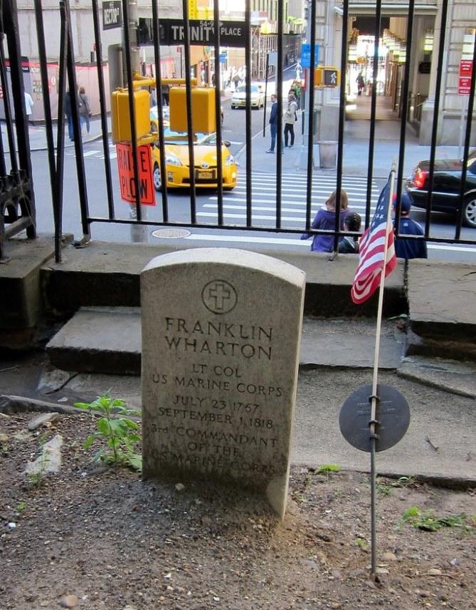 Grave of Lt. Col. Franklin Wharton