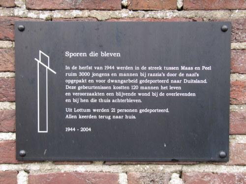 Monument 'Sporen die bleven' Lottum