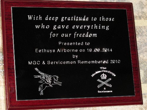 Plaque Eethuys Airborne