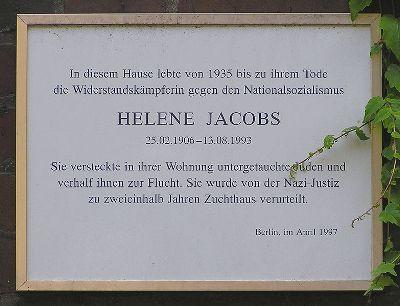 Plaquette Helene Jacobs